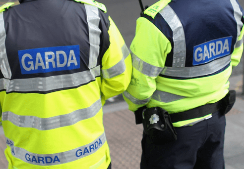 Garda at the scene of House Burglary