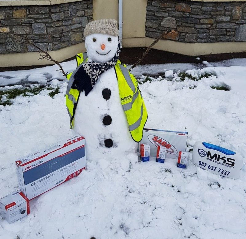 MKS Alarm installers kerry getting into the spirit of March-mas