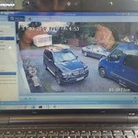 Laptop Display of Security CCTV Video